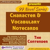 {99 Novel} The Contender by Robert Lipsyte Character & Vocabulary notecards