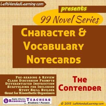 {99 Novel} The Contender by Robert Lipsyte Character & Voc