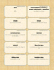 {99 Novel} The Scarlet Letter by Nathaniel Hawthorne Character & Vocab Notecards
