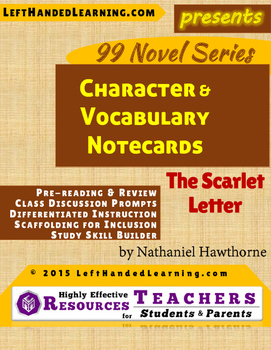 {99 Novel} The Scarlet Letter by Nathaniel Hawthorne Chara