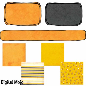 Candy Corn Combo Pack (clipart and papers)