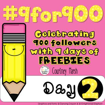 #9for900 Freebie Celebration Day 2