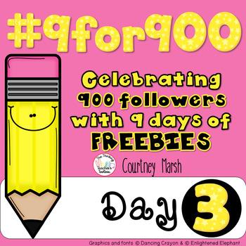 #9for900 Freebie Celebration Day 3