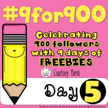 #9for900 Freebie Celebration Day 5