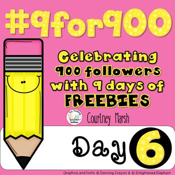 #9for900 Freebie Celebration Day 6