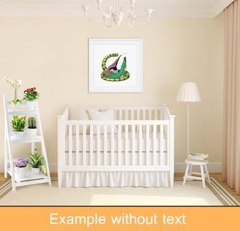 ♥ ABC  letter A. Classroom Poster Alphabet - Animals. English animals alphabet.