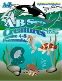 """A B Sea Creatures"" Cursive Penmanship A-Z"