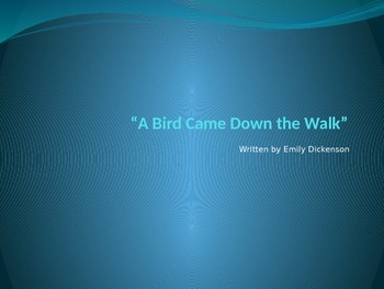 """""""A Bird Came Down the Walk""""  Core Knowledge PowerPoint"""