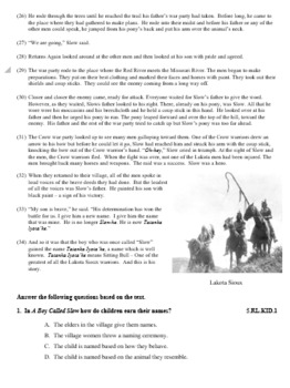 """A Boy Called Slow"" Reading Passage with Questions"