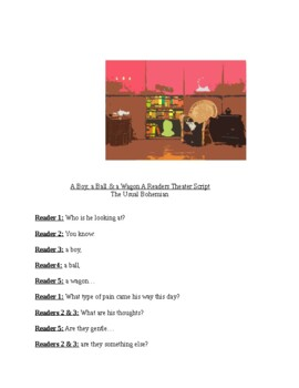"""Tribute to Lewis Hine, """"A Boy, a Ball, & a Wagon,"""" A Readers Theater Script"""
