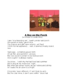 """Tribute to Lewis Hine, """"A Boy on the Porch,"""" [A Poem]"""