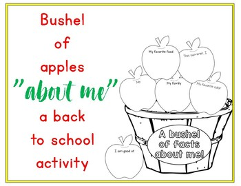 """""""A Bushel Of Facts About Me"""" {Back To School Activity}"""