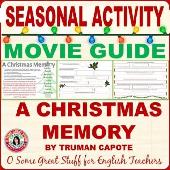 """A CHRISTMAS MEMORY"" Movie Guide--Christmas Activities"