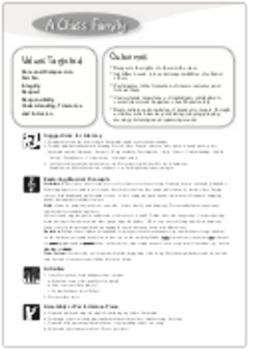 'A CLASS FAMILY' (Grades K-4) ~ Song & Lesson Materials l Distance Learning