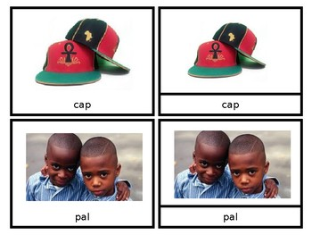"""""""A"""" CVC Words - Nomenclature Cards - African American"""