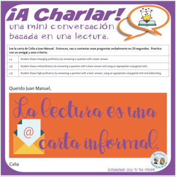 ¡A Charlar! A Novice Speaking Introduction to Producing the Target Language