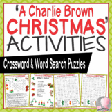 """""""A Charlie Brown Christmas"""" Activities Crossword Puzzle Word Search Peanuts"""