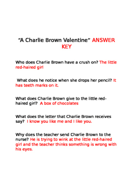 """A Charlie Brown Valentine"" Movie Questions"