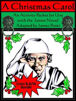 Christmas Carol Activity Packet Bundle - Color&BW