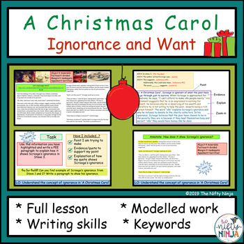 A Christmas Carol Ignorance and Want by The Nifty Ninja   TpT