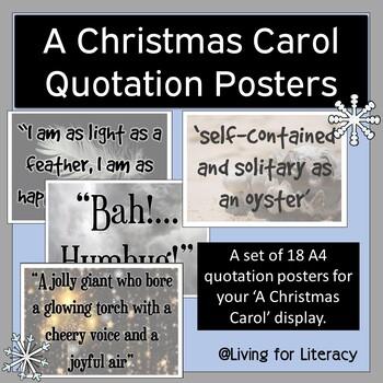 'A Christmas Carol' Quotation Poster Set