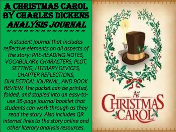 """A Christmas Carol"" Reflective Journal"