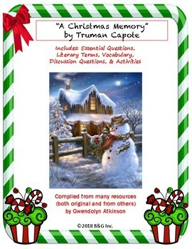 """""""A Christmas Memory"""" by Truman Capote Lesson Plan / Study Guide"""