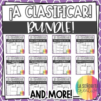 ¡A Clasificar! Bundle - 12 Spanish sorting activities