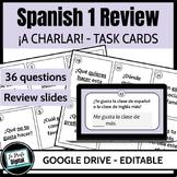 ¡A Conversar! Task Cards / Spanish 1 Review / Realidades 1 & 2