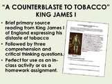 """A Counterblaste to Tobacco"" - King James I - Colonial America - USH/APUSH"