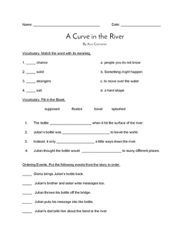 """""""A Curve in the River"""" QUIZ - Spot. on Literacy (Book Two"""