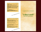 """A Day's Wait"":  Complete Lesson"