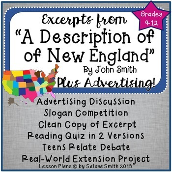 """A Description of New England"" by John Smith"