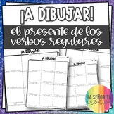 ¡A Dibujar! Regular Present Tense Verbs - Spanish drawing activity