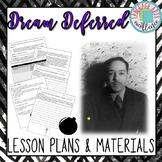 """A Dream Deferred"" (Hughes) Lesson Plan & Materials"