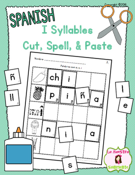 Cut, Spell, and Paste: Writing I Syllables (Spanish)