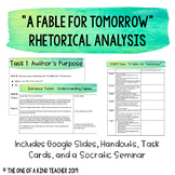"""""""A Fable for Tomorrow"""" Silent Spring Annotation Task Cards"""