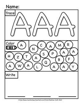 {A} Freebie! Letters A+a Activity Page
