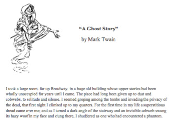 """A Ghost Story"" by Mark Twain Short Story Lesson"