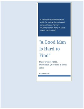 a good man is hard to find study guide