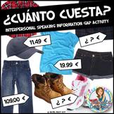 Spanish Interpersonal Speaking Info Gap Activity   Clothing   Cuánto cuesta