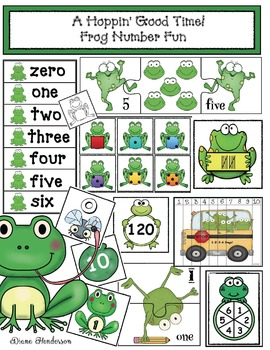 """""""A Hoppin' Good Time!"""" Frog Number Fun"""
