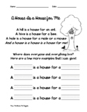 """""""A House Is a House for Me"""" Follow-Up Activity"""