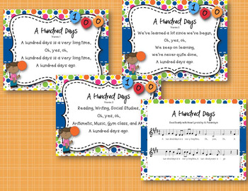 """A Hundred Days"" - 100 Days Song with Original Lyrics & Orff Accompaniment"