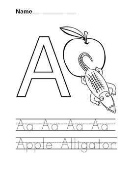 """A"" Letter Practice Coloring Sheet"