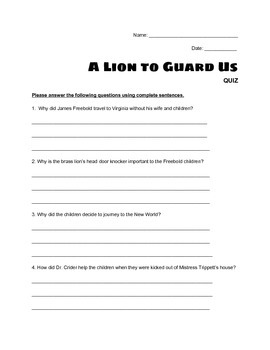 """A Lion to Guard Us"" - QUIZ"
