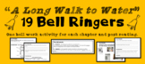 """A Long Walk to Water"" 19 Bell Ringers - PRINTABLES - Warm up activities"