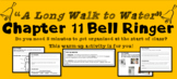 """A Long Walk to Water"" Chapter 11 Warm-Up Activity - Bell Ringer - PRINTABLE"