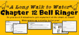 """A Long Walk to Water"" Chapter 12 Warm-Up Activity - Bell Ringer - PRINTABLE"