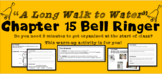 """A Long Walk to Water"" Chapter 15 Warm-Up Activity - Bell Ringer - PRINTABLE"
